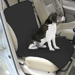 Efanr Pet Car Seat Mat Single Rear Seat Folding Waterproof Oxford Fabric Seat Back Cover Dog Cat Cushion Closely Automobile Co - pilot Car Seat Carrier Pad Good for Travel (Black)
