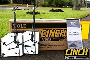 CINCH Traps-Medium Mole Trap Kit: Two Mole traps with tunnel marking flags and instructions- Made in America