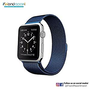 iWatch Metal Magnetic Band by iFixandRepair | 38MM Wrist Strap for Apple + Watch + Replacement