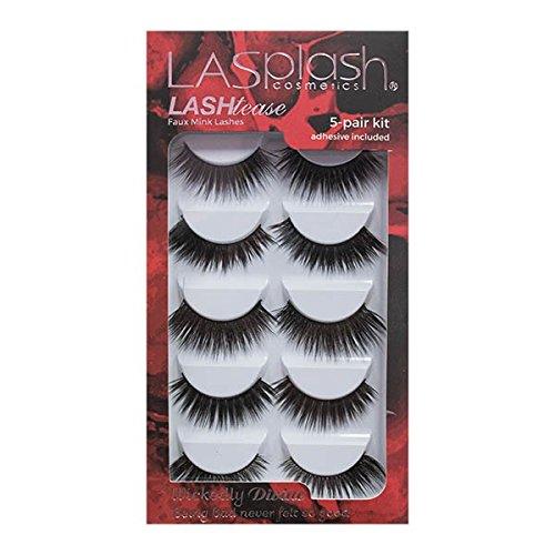 La Splash Cosmetics LASHtease Wickedly Divine Synthetic Mink Faux Lashes 5-pair (Kit Splash)