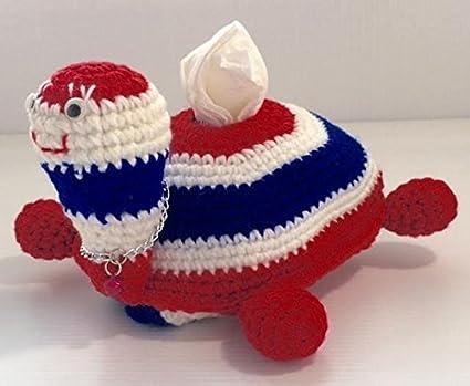 Amazon Lovely Turtle Handmade Crochet Tissue Box Cover Triple