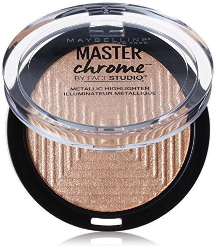 Maybelline New York Face Studio Master Chrome Metallic Highlighter, Molten Gold, 0.24 (Highlighting Powder)
