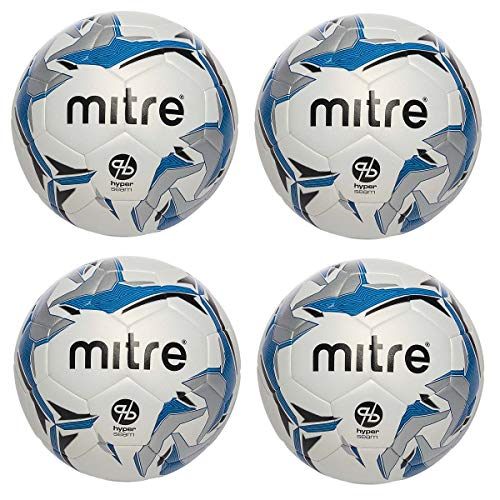 - Mitre Astro 4 Pack Hyper Seam Soccer Ball Official Game Size 5 Match Ball for 3G/4G Artificial Surface