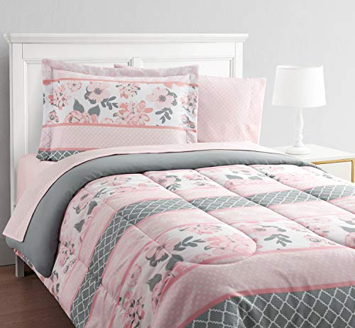 Which are the best pink and gray comforter set twin available in 2020?