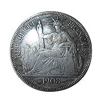 Giantree Collection de pièces de monnaie, Monnaie américaine sans circulation en dollars américains Eagle Eagle, La protection économique de l'année 1908