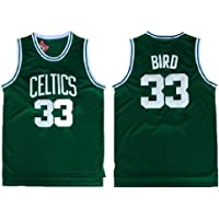 33047128489 Men's Bird Jersey 33 Basketball Jerseys Larry Jersey Green(S-XXL)