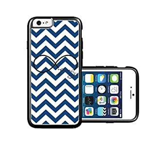 RCGrafix Brand forever young dark blue Chevron Black iPhone 6 Case - Fits NEW Apple iPhone 6