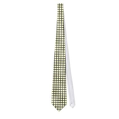 zazzle template plain black line check pattern neck tie at amazon
