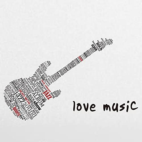 BB.er Pegatinas de Pared música para Guitarra Letras Creativas ...
