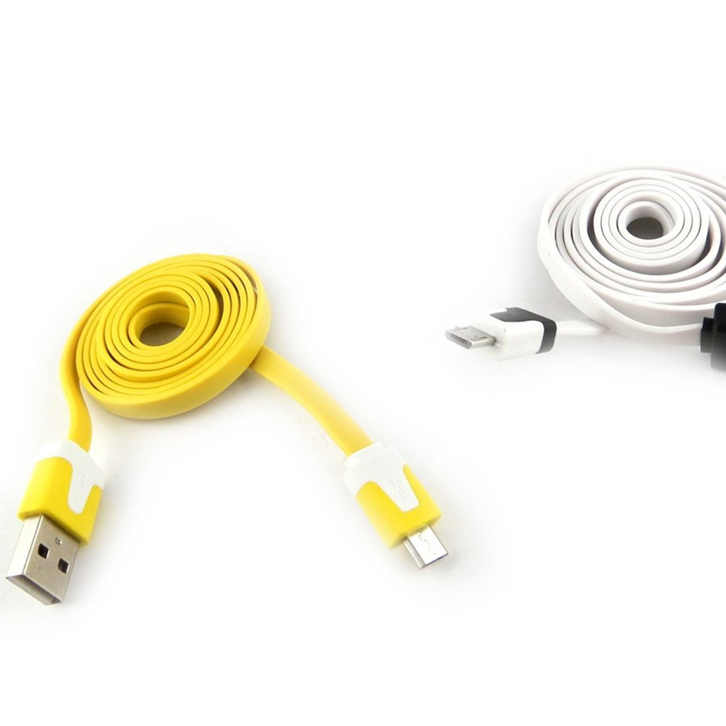 . 2 cables usb phones Coloriage yellow white 1m