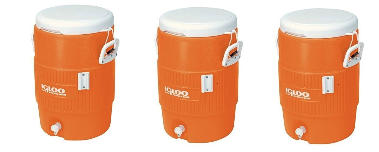 Igloo 5 Gallon Seat Top Beverage Jug with spigot (Pack of 3)