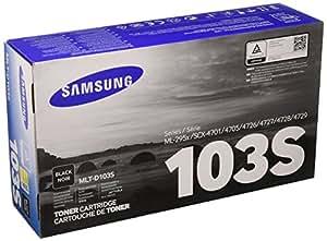 Samsung MLT-D103S - Tóner para impresoras láser (1500 páginas, Laser, - ML-2950NDR - ML-2955ND - SCX-4729FW - SCX-4729FD - SCX-4727FD, 734 g, 1.008 kg, 193 x 91 x 341 mm)