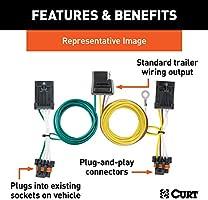 [DIAGRAM_0HG]  Amazon.com: CURT 55540 Vehicle-Side Custom 4-Pin Trailer Wiring Harness,  Select Chevrolet Express, GMC Savana 1500, 2500, 3500, 4500: Automotive | Chevrolet Express Trailer Wiring |  | Amazon.com