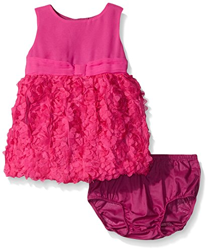 The Children's Place Baby Rosette Bubble Dress, Enchanted, 0-3 Months (Rosette Bubble Dress)