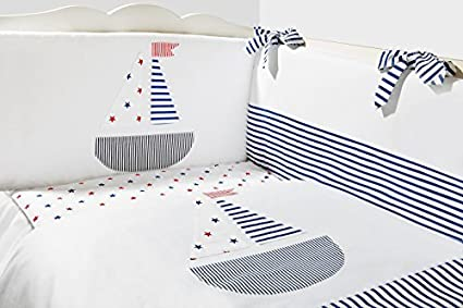 C Vizaro Made in EU Canopy with Holder for Baby Cot//Cot Bed 100/% Luxury Cotton Polka Dots OekoTex Safe for Babies