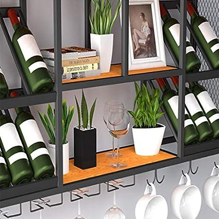 MIAOLIDP Enrejado en la Pared vinoteca decoración Vino Copa Titular Vino Estante Colgante Vino Estante vinoteca Restaurante Pared Vino celosía (Tamaño : 210 * 25 * 60cm)