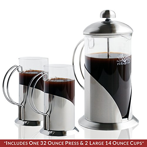 French Press Coffee Maker Problems : French Press Coffee, Tea & Espresso Maker By Pura Vida - Durable 304 Stainless Steel ...