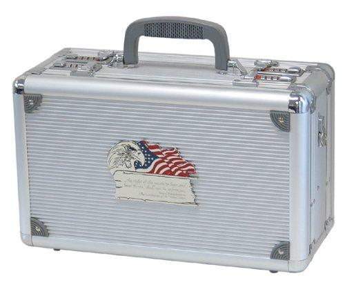 T.Z. Case International 2Nd Amendment Duelly Fifthteen Pistol Case, Silver, 15-Inch by T.Z. Case International (Image #2)