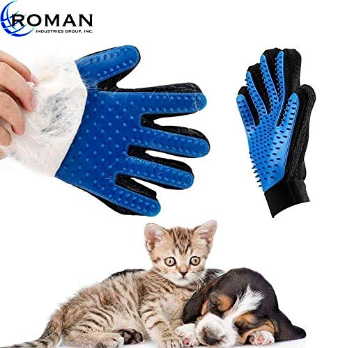 [Upgraded Version] 1 Pair – Pet Grooming Gloves – Gentle Deshedding Glove – Efficient Pet Hair Remover Ideal for Dog or…