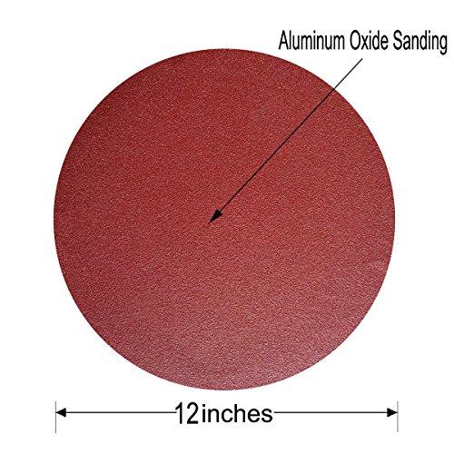 Sackorange 18 PCS 12-Inch NO-Hole PSA Aluminum Oxide Sanding Disc, Self Stick(3 Each of 80 100 120 180 240 400) by SACKORANGE (Image #1)