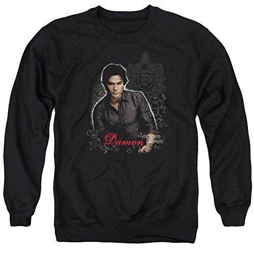 Vampire Diaries - Damon Adult Crewneck Sweatshirt