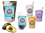 10+ Drinks Avocado Boba Tea Kit: Tea Powder, Tapioca Pearls & Straws By Buddha Bubbles Boba