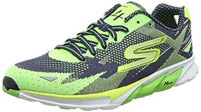 Skechers Running Shoes for Men - Black & Green 43 EU