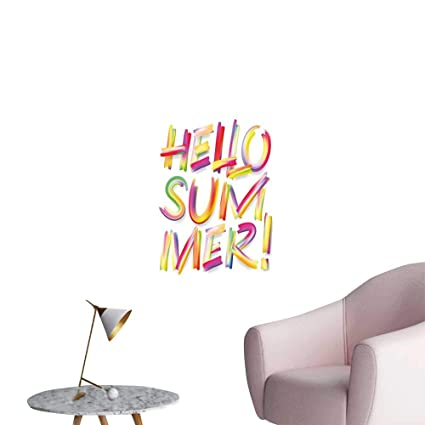 Amazon com: Alexandear Hello Summer Art Decor 3D Wall Mural