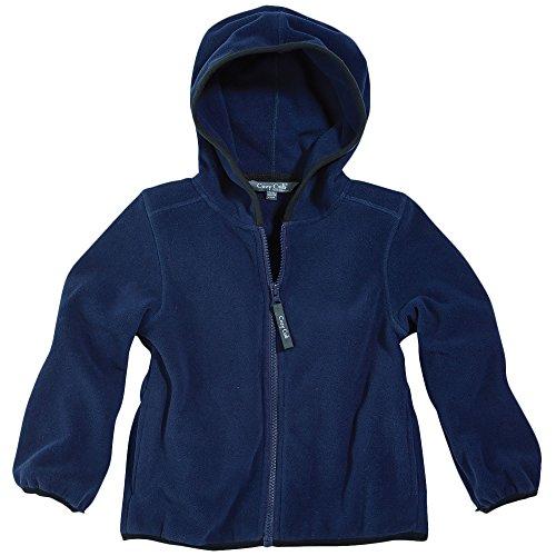 Little Boy Navy Blue Polar Fleece Hooded Jacket by Cozy Cub, Size (Fleece Boys Zip Hooded Jacket)