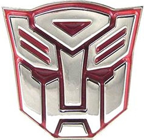Womens Transformers Megatron Costumes (Transformers Hasbro Autobot Red 3D Belt Buckle Halloween Costume Fashion Metal)