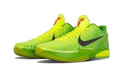Free Shipping 6070 OFF Nike Zoom Kobe 6 Grinch Christmas Green Mamba Basketball Shoes 7Hpkp