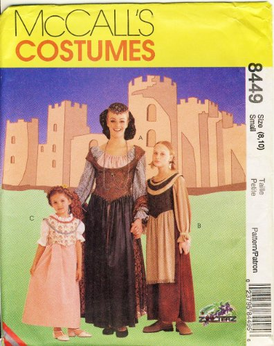 Mccalls Renaissance Costume Patterns (McCall's Sewing Pattern 8449 Misses' Medieval / Renaissance Costumes - Sizes 20, 22)
