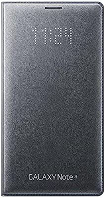 finest selection f860a cf88c Samsung Galaxy Note 4 LED Flip Wallet Cover - Charcoal Grey: Amazon.com