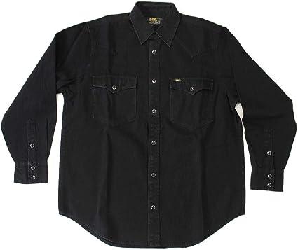 Lee Camisa de hombre 865 0247 de algodón negro original Ai ...