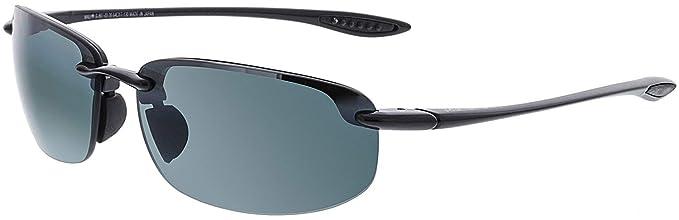 197981b81d64eb Maui Jim G807-022 Gloss Black Hookipa Reader Wrap Sunglasses Polarised  Golf, Sa
