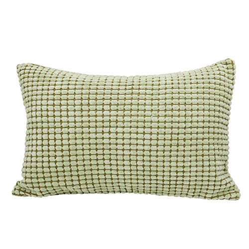 Pillow Print - Pillow Cover Throw Shell Polyester Corn Striped Case 12 X 18 Inch Green - Standard Case Soft Hero Pattern Jersey Extra Rose Encasement Ivory Shaped Body Rectangular Light Shee