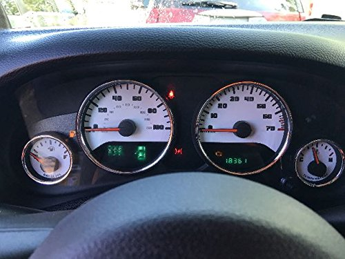US Speedo WRA 150 - Daytona Edition Gauge Face - Custom White White Night - 100 MPH 4Ga, 1 Or 2 Window - for: Jeep Wrangler 15-16 ()