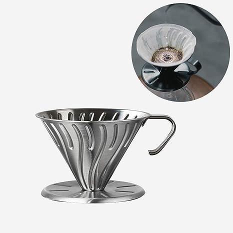 Vierta sobre El Gotero De Café- Acero Inoxidable Filtro De ...