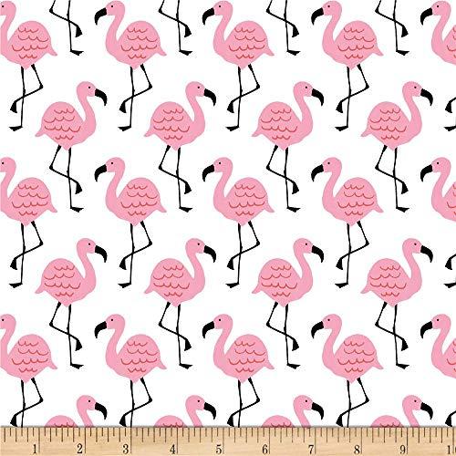 Studio E Fabrics Summerlicious Flamingo White/Pink, Fabric by the Yard (Flamingo Fabric)