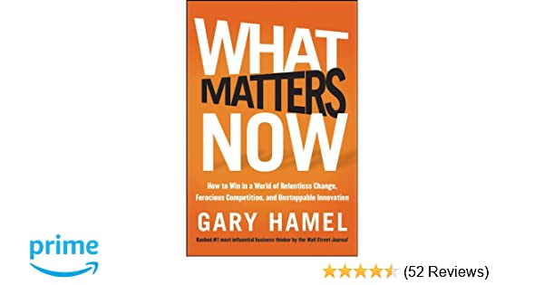 What Matters Now Gary Hamel Pdf