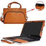 Inspiron 13 2-in-1 i5379 i5378 i5368 Case,2 in 1 Accurately Designed Protective PU Leather Cover + Portable Carrying Bag for 13.3' Dell Inspiron 13 5000 Series 2-in-1 5379 5378 5368 Laptop,Red