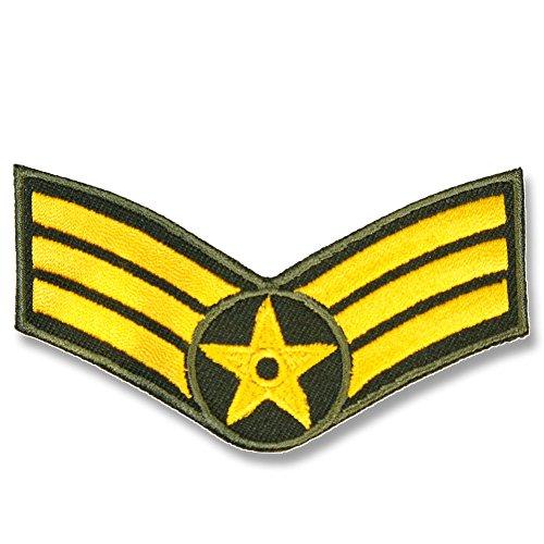 刺繍アイロンワッペン・パッチ【アメリカ空軍 階級章】ミリタリー 軍物 アメリカ AIR-FORCEの商品画像