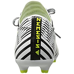adidas Originals Boys' Nemeziz 17.3 FG J Soccer Shoe, White/Solar Yellow/Black, 2.5 Medium US Little Kid