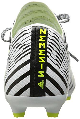 adidas Kinder Nemeziz 17.3 FG J Fußballschuh Weiß / Solar Gelb / Schwarz