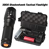 Quelife 6000lm SHADOWHAWK X800 Tactical Flashlight