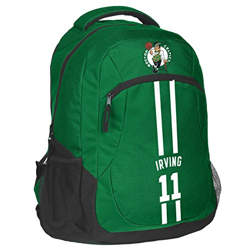 FOCO Forever Collectibles NBA Unisex Action Backpack Boston Celtics Kyrie Irving #11 Action Backpack, Boston Celtics, One Size by FOCO
