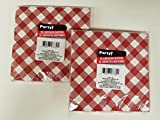 Red and White Gingham Luncheon 2-ply Napkins, 20 Count (2 Packs) 40 Napkins ...