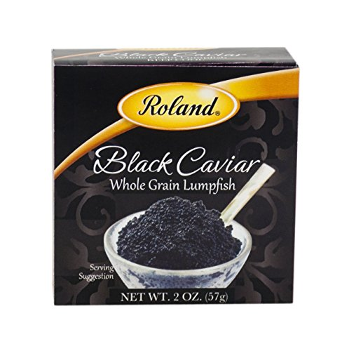 Roland Black Caviar, Whole Grain Lumpfish, 2 Ounce
