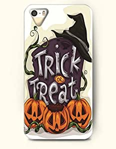 All Saints' Eve - OOFIT iPhone 4 4s Case Trick Or Treat Pumpkin Lantern And Witch'S Hat