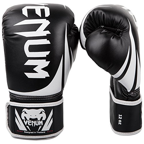 Venum Challenger 2.0 Boxing Gloves - Black/White - 16-Ounce ()